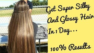 Get Super Silky And Shiny Hair In 1 Day|DIY Hair Mask|In Urdu/Hindi