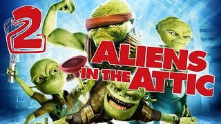 Aliens in the Attic Walkthrough Part 2 (PS2, Wii, PC) Movie Game - Level 02 -