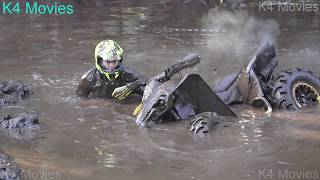 ATV Off-road race , 4WD ATV in wet forest | Atnsumae 2017