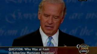 VP Debate - Subprime Mortgage Crisis: Who was at fault in...