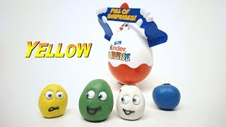 Learn Colors With Play Doh Surprise Eggs Stop Motion Educational Cartoon For Kids