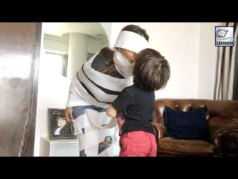 Shah Rukh Khan's Son AbRam Wraps Gauri Khan In Love | LehrenTV