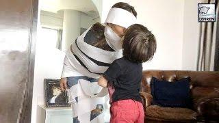 Shah Rukh Khan's Son AbRam Wraps Gauri Khan In Love   LehrenTV
