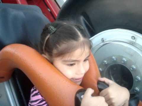 Sarah's First Time On Roller Coaster X2 Six Flags Magic Mountain