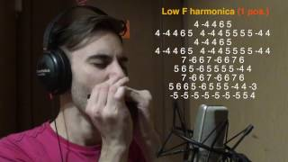 TOP 5 songs without bends [HARMONICA TAB]