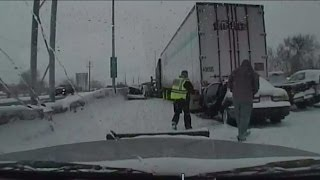 Video captures Highway 41/45 pileup as it happens