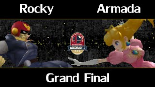 Arenan I - Rocky (C.Falcon) Vs. Armada (Peach) - Melee Grand Final