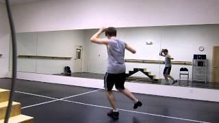 Rehearsing tap dance