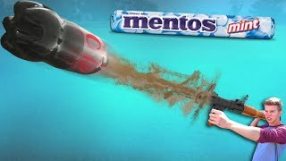 Coke + Mentos Rocket Launcher!! (DIY Weapon)