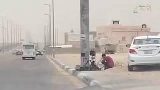"""فيديو متداول: مرور #الأحساء يستعين بكاميرا """"العنكبوت"""""""