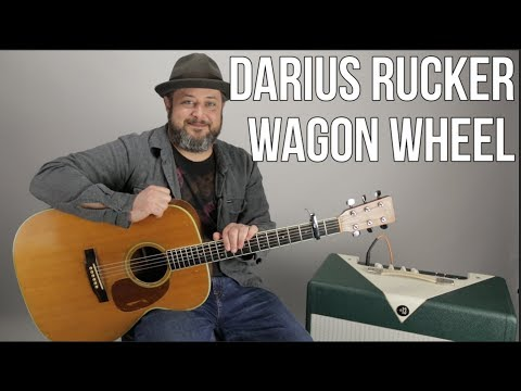 """How to Play """"Wagon Wheel"""" by Darius Rucker - super easy acoustic"""
