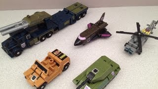 TRANSFORMERS G1 COMBATICONS AND BRUTICUS VIDEO TOY REVIEW