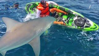 SCARY SHARK FISHING ACCIDENT! – AMAZING FISH SHARKS FLIP KAYAK!!! NEAR FATAL SHOCKING FIGHT VIDEO