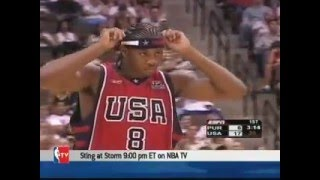 USA vs Puerto Rico 2004 Olympics Men's Basketball Exhibition Friendly Game FULL GAME English