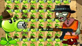 Repeater vs AK-47? Plants vs Zombies Power Up Challenge in PVZ 2 (Plantas Contra Zombies 2)