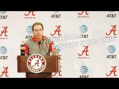Nick Saban previews Alabama Spring Football Game