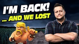 CLASH OF CLANS : ALMOST EPIC ENDING. MY FIRST WAR BACK!