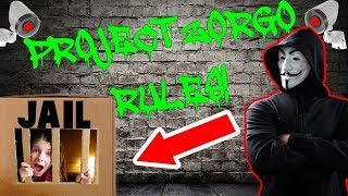 PROJECT ZORGO made me go to JAIL! Box Fort Challenge