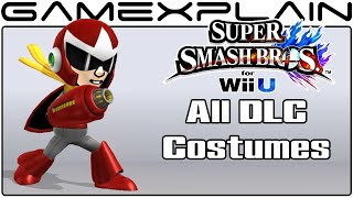 All DLC Mii Fighter Costumes in Smash Bros Wii U
