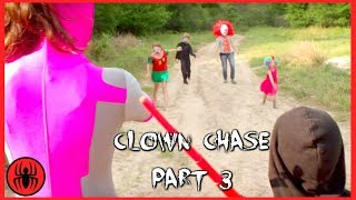 Clown chase final Part 3 Superhero Kids
