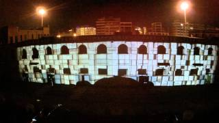 video projection mapping festival dimitrion thessaloniki