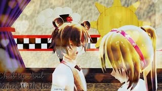(MMD FNAF)  Shut up and Dance with Me (T.Chica and Freddy)