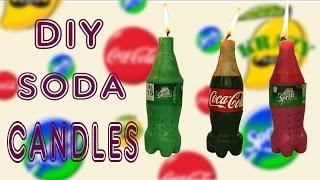 Glowing Coca Cola & Sprite Candles DIY Soda Candles