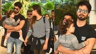 Omg ! Shahid Kapoor looking adorable while holding cute daughter Misha in his arms !