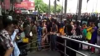 Crazy BAHUBLI fans Advance Ticket Booking