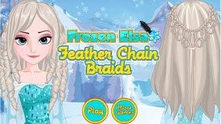 Frozen Elsa Feather Chain Braids Hairstyles Best Baby Games For Children