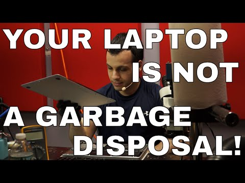 Eating over your laptop is nasty