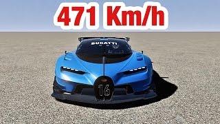 Bugatti Vision Gran Turismo  - Top Speed 471 Km/h