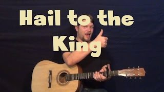 Hail to The King (Avenged Sevenfold) Easy Guitar Lesson How to Play Standard Tuning