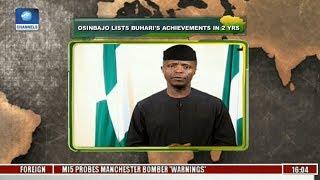 Democracy Day: Osinbajo Lists Buhari's Achievements In Two Years