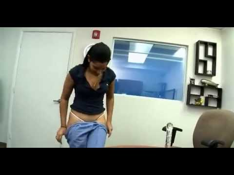 Girl stripping in office