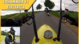 Johammer J1 Electric Motorcycle em ação