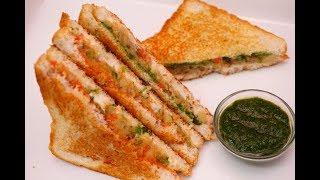 10 Min में तवे पर बनाये सबसे healthy Sandwich || Veg Sandwich Recipe -  Potato Sandwich