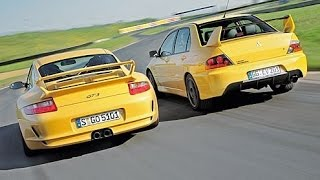 Mitsubishi Lancer EVO 9 vs Porsche Carrera S - DRAG RACE!!!
