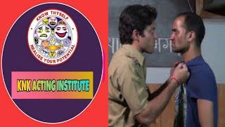 AN ACTOR PERFORMS A dramatic scene from play Mahabhoj by Mannu Bhandari