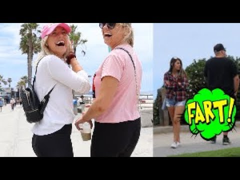 Funny Wet Fart Prank With The Sharter Toy At The Beach