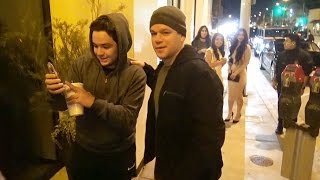 Matt Damon Dines With Pal Chris Hemsworth And His Gorgeous Wife