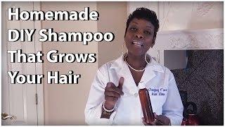 DIY Shampoo - How To Make  A Shampoo That Will Make Your Hair Grow (fast)