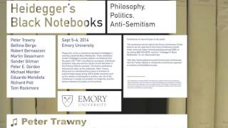 """Heidegger, 'World-Judaism', and Modernity"" by Peter Trawny, Emory University, Sept. 2014"