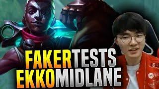 Faker Testing How Good is Ekko Now! - SKT T1 Faker Plays Ekko Mid! | SKT T1 Re`ñaus