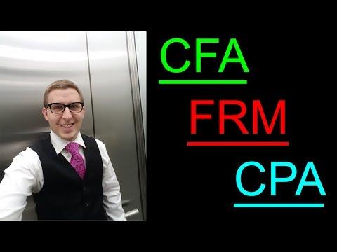 FRM vs. CFA vs. CPA