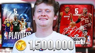 1.5 MILLION VC PACK OPENING! NBA 2K19 NEW CONSOLE NEW TEAM!