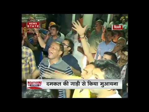 Delhi: Fire breaks out in a cloth shop in Chandni Chowk's Moti Bazar