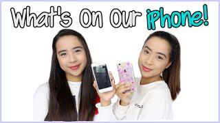 What's On Our iPhone!   Caleon Twins