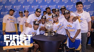 Warriors First Team To Enter NBA Finals With 12-0 Record | First Take | May 23, 2017