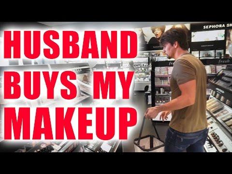 HUSBAND BUYS MY MAKEUP CHALLENGE